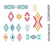 vector tribal elements  ethnic... | Shutterstock .eps vector #323854409