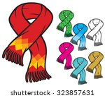 scarf collection   Shutterstock .eps vector #323857631