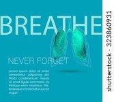 lungs breathe polygonal... | Shutterstock .eps vector #323860931