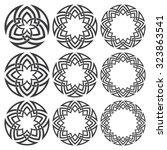 set of round frames. nine... | Shutterstock .eps vector #323863541