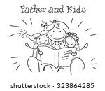 father and kids. kids health.... | Shutterstock .eps vector #323864285