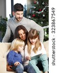portrait of happy family... | Shutterstock . vector #323867549