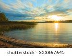 Sunset On The Lake. Sunset...