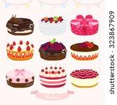 cakes vector design illustration | Shutterstock .eps vector #323867909