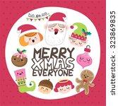 Santa   Friends. Christmas Card.