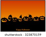 halloween background or card.... | Shutterstock .eps vector #323870159