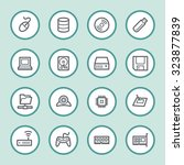 computer components web icons... | Shutterstock .eps vector #323877839