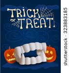 halloween poster with fake... | Shutterstock .eps vector #323883185