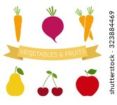 set of vegetables and fruits...   Shutterstock .eps vector #323884469