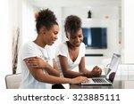 african american student girls... | Shutterstock . vector #323885111