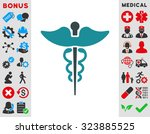 caduceus vector icon. style is... | Shutterstock .eps vector #323885525