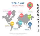 world map historic year data... | Shutterstock .eps vector #323886839