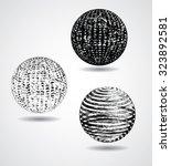 business  tourism globe. grunge ... | Shutterstock .eps vector #323892581
