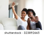african american teenage girls... | Shutterstock . vector #323892665