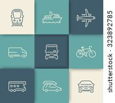 transport  car  van  minivan ... | Shutterstock .eps vector #323892785