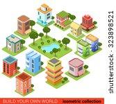flat 3d isometric building... | Shutterstock .eps vector #323898521