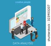 flat 3d isometric online data... | Shutterstock .eps vector #323903207