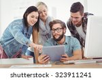 business people using digital... | Shutterstock . vector #323911241