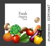fresh vegetables and banner... | Shutterstock .eps vector #323914667