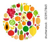 vector collection of fresh... | Shutterstock .eps vector #323917865
