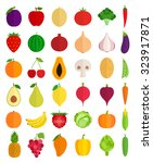 vector collection of fresh... | Shutterstock .eps vector #323917871