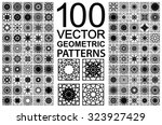 seamless texture with geometric ... | Shutterstock .eps vector #323927429