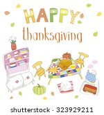 vector card for thanksgiving day | Shutterstock .eps vector #323929211