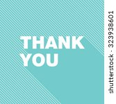 thank you card | Shutterstock .eps vector #323938601