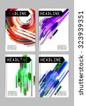 flayer  cover  business card... | Shutterstock .eps vector #323939351