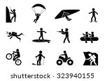 extreme sports or adventure... | Shutterstock .eps vector #323940155