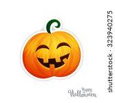 isolated vector pumpkin ... | Shutterstock .eps vector #323940275