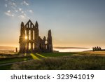 Sun Star On Whitby Abbey   The...