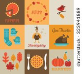 thanksgiving and autumn... | Shutterstock .eps vector #323941889