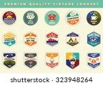 premium quality vintage vector... | Shutterstock .eps vector #323948264