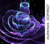 Dark Fractal Flower With Polle...