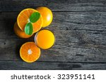 glass of orange juice from... | Shutterstock . vector #323951141