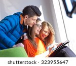 students group working on... | Shutterstock . vector #323955647
