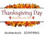 thanksgiving day banner...   Shutterstock .eps vector #323959841