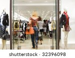 shoppers at shopping center ... | Shutterstock . vector #32396098