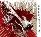 grunge rock background. vector... | Shutterstock .eps vector #32396221