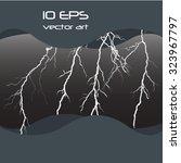 thunder storm | Shutterstock .eps vector #323967797