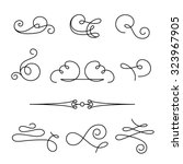 set of vintage calligraphic... | Shutterstock .eps vector #323967905