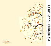 vector fall  autumn background...   Shutterstock .eps vector #323968565