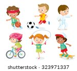 sport for kids including... | Shutterstock .eps vector #323971337