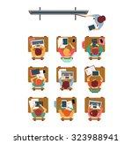 vector illustration of a modern ... | Shutterstock .eps vector #323988941