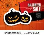 halloween sale. vector... | Shutterstock .eps vector #323991665