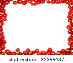 red currant border | Shutterstock . vector #32399437