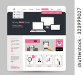 website design in flat style.... | Shutterstock .eps vector #323999027