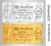 gift certificate  voucher ... | Shutterstock .eps vector #323999945