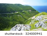 west side of cabot trail in... | Shutterstock . vector #324000941